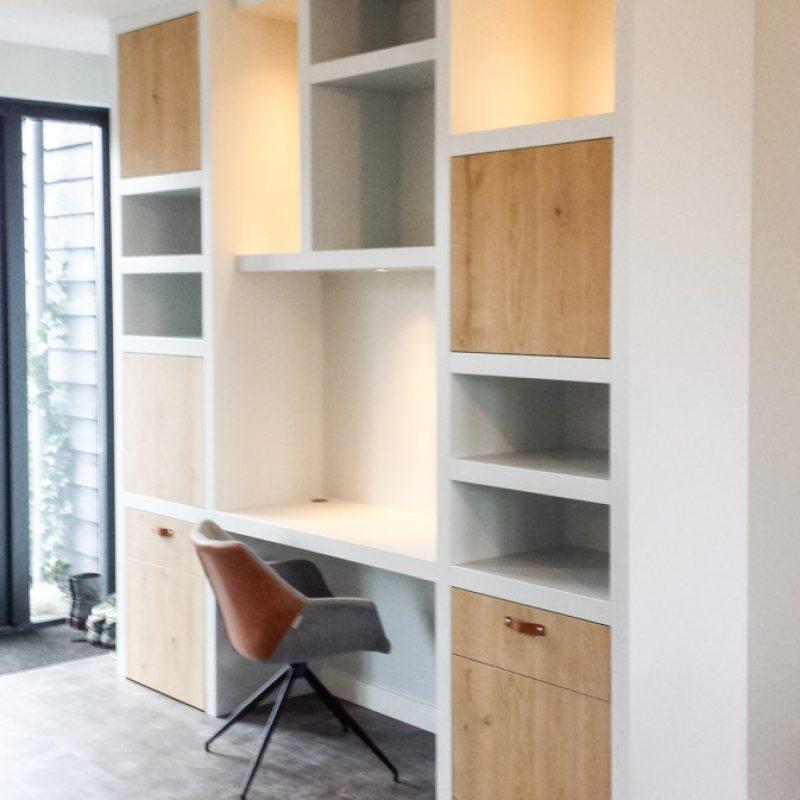 Kastenwand – werkplek <br>in de woonkamer